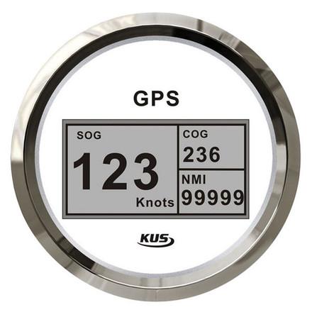 KUS GPS & Speedo Gauge - White, Digital