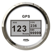 KUS GPS & Speedo Gauge - White, Digital