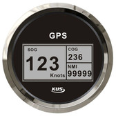 KUS GPS & Speedo Gauge - Black, Digital