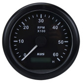 KUS Tacho/Hour Meter Gauge - Black