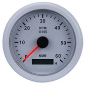 KUS Tacho/Hour Meter Gauge - White