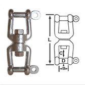 Swivels - Jaw & Jaw - 316 Stainless Steel