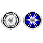Fusion Signature Series Speakers - White Sports Grill With LEDs (Pair)
