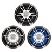 Fusion Signature Series Speakers - Chrome/Grey Sports Grill With LEDs (Pair)