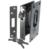 Stainless steel sliding door lock with key