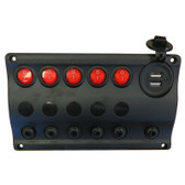 Switch Panel with USB Socket