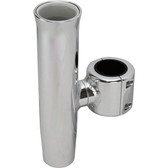 Anodised aluminium polished clamp on rod holder