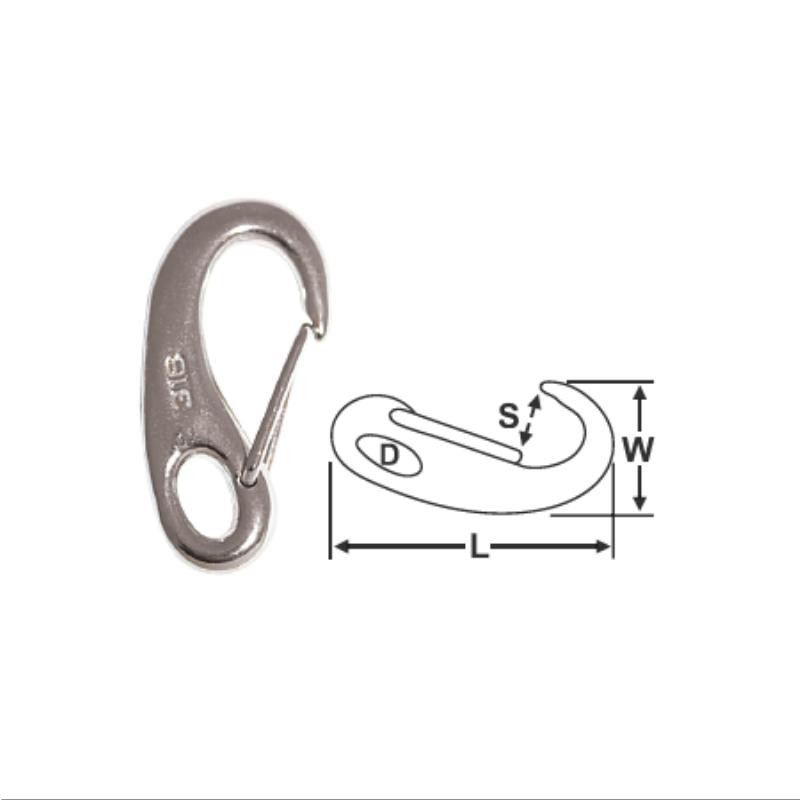 Cast Snap Hook - Stainless Steel