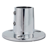 Stainless steel round base rail fitting 56730