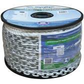 3 strand nylon rope with short link galvanized chain