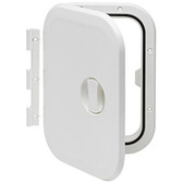 Plastic Hatch with Removable Hinge - White