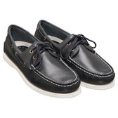 Burke Flinders Leather Deck Shoe - Navy
