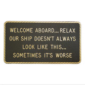 RWB Marine Plaque - Welcome Aboard