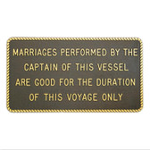 Plaque - Marriages Performed By The Captain