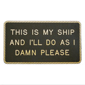 RWB Marine Plaque - This Is My Ship