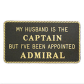 RWB Marine Plaque - I've Been Appointed Admiral