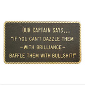 RWB Marine Plaque - Our Captain Says