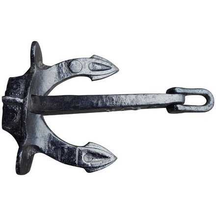 Halls stockless anchor