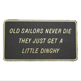 RWB Marine Plaque - Old Sailors Never Die