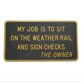RWB Marine Plaque - Sit On The Weather Rail