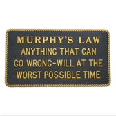 RWB Marine Plaque - Murphy's Law