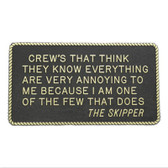 RWB Marine Plaque - Crews That Think