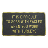 RWB Marine Plaque - Soar With Eagles