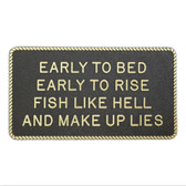 RWB Marine Plaque - Early To Bed