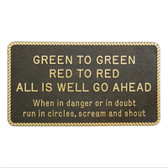RWB Marine Plaque - Green To Green, Red To Red
