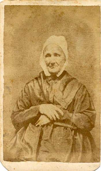 My ggg grandmother, Elizabeth Stauffer (1782-1878), a Mennonite. Taken in 1865.
