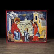 First Steps of the Theotokos (Athos) Icon - F258