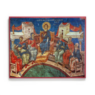 Christ Teaching in the Temple at Mid-Feast (Decani) Icon - F302