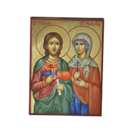 Saints Adrian and Natalia Hand-Painted Icon