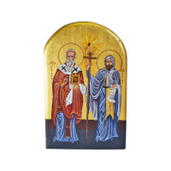 Saints Cyril and Methodius Hand-Painted Icon