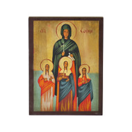 Saint Sophia and Daughters Hand-Painted Icon