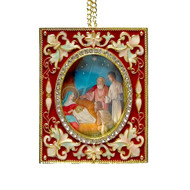Nativity Faberge Style Icon-Ornament