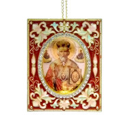 St. Nicholas Faberge Style Icon-Ornament
