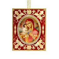 Theotokos Faberge Style Icon-Ornament