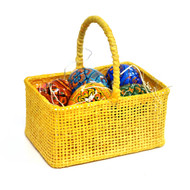 Basket of Mini Painted Eggs