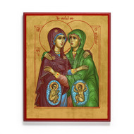 The Visitation of the Theotokos and Saint Elizabeth Icon - F324