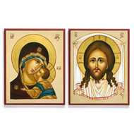Holy Face and Theotokos Icon Set