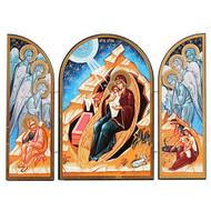 Sofrino Nativity Triptych (Blue)
