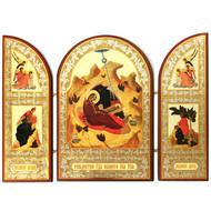 Sofrino Nativity Triptych (Gold)