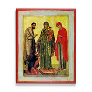 Ancestors of God Joachim and Anna with Christ and the Theotokos (Sinai) Icon - S504
