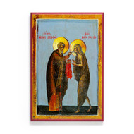 Saint Mary of Egypt and Abba Zosimas (Sinai) Icon - S505