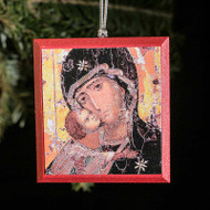 Theotokos of Vladimir Tree Ornament - T116