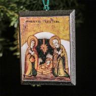 Nativity of Christ (XVIIIc) Tree Ornament - F162