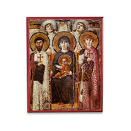 Theotokos Enthroned Icon - T122