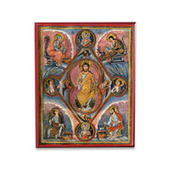 Christ Pantocrator with Prophets and Evangelists (Illumination) Icon - X124