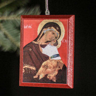 "Theotokos ""Tenderness"" (XVc) Tree Ornament - T130"